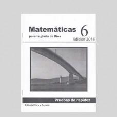 Matemáticas 6 Pruebas de Rapidez