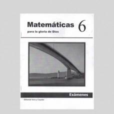 Matemáticas 6 Libreta de Exámenes